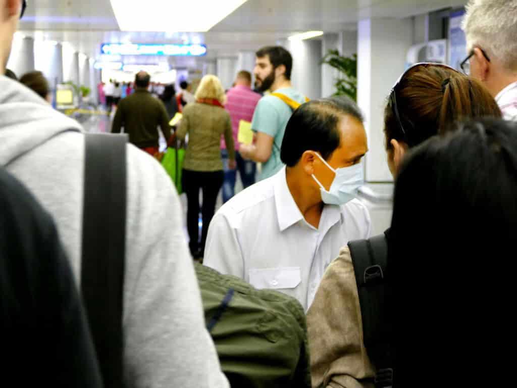 Gesundheitskontrolle Flughafen Vietnam